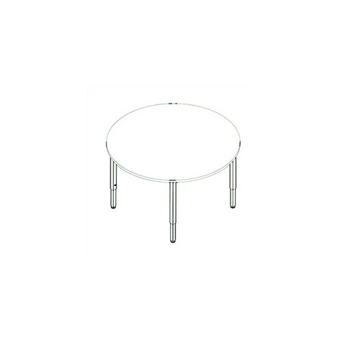 Fleetwood Multi-Use Circular Table with Adjustable Height