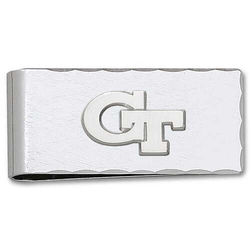 LogoArt® Georgia Tech Silvertone Logo Money Clip