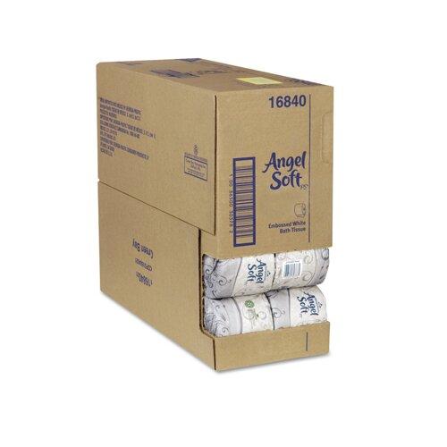 Angel Soft Angel Soft Performance Premium 2-Ply Bathroom Tissue - 450 Sheets per Roll / 40 Rolls