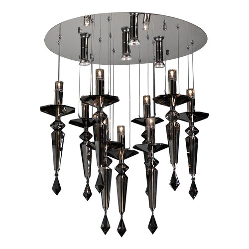 PLC Lighting Amore 13 Light Crystal Chandelier