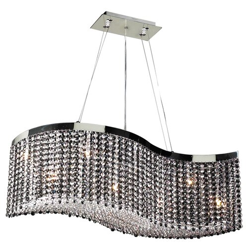 Clavius-I 8 Light Crystal Chandelier