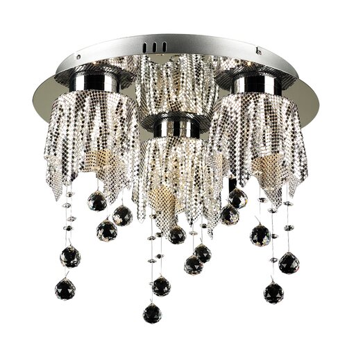 PLC Lighting Mirabelle 3 Light Flush Mount