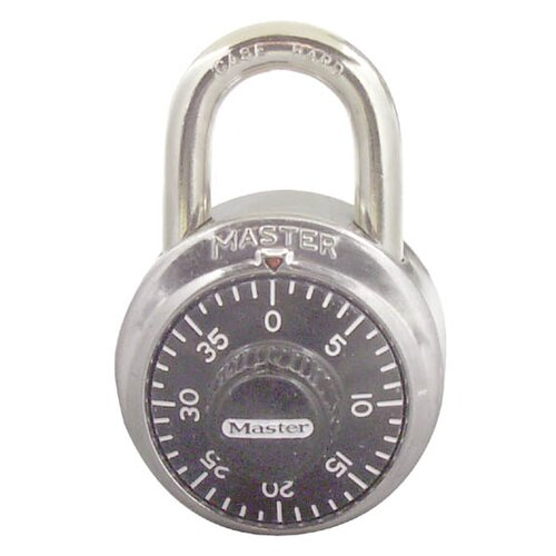 Master Lock Company Combination Lock Stainless Steel in Black Dial