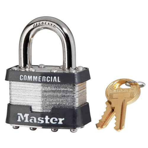 No. 1 Laminated Padlock with 2 Keys