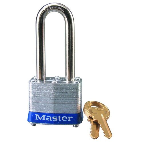 Master Lock Company No. 3 Long Shackle Laminated Padlock