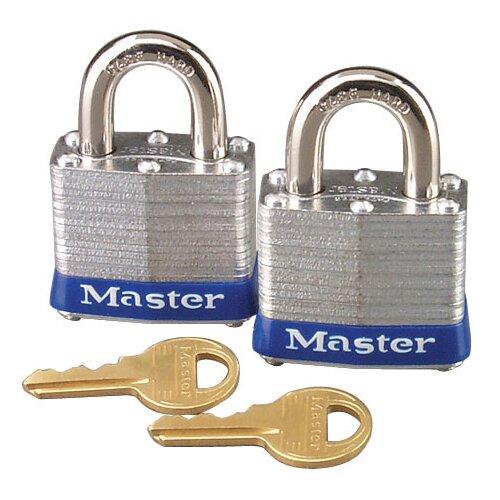 Master Lock Company Master Lock High Security Padlocks, Silver, 2 per Pack