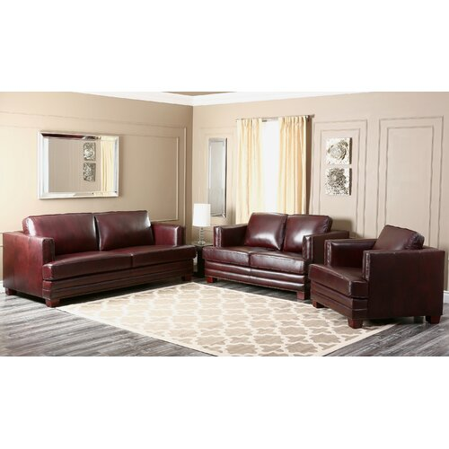 Cassidy 3 Piece Leather Living Room Set
