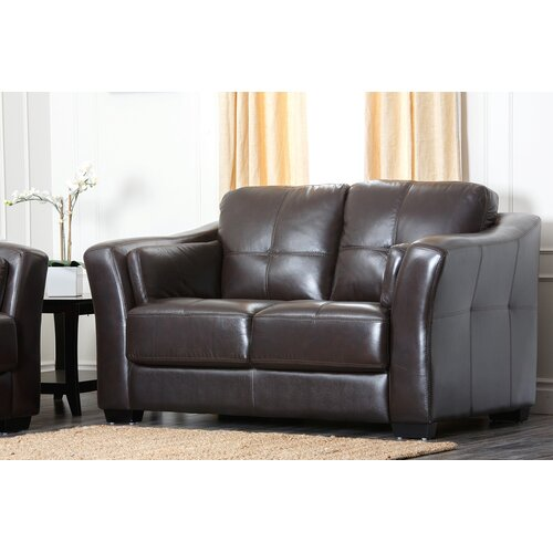 Sydney Premium Leather Loveseat
