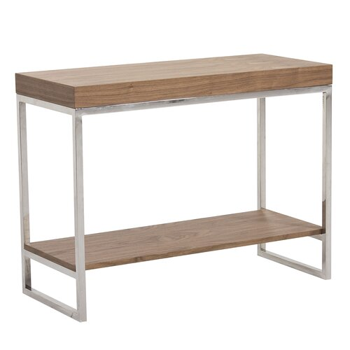 Wood metal console table wayfair Metal console table