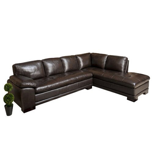 Abbyson Living Devonshire Premium Leather Sectional
