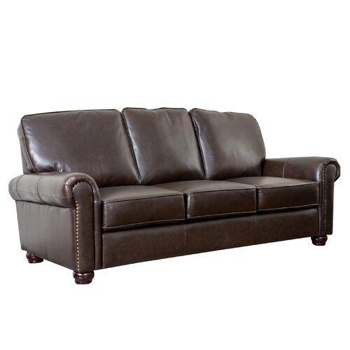 Preston Premium Italian Leather Sofa, Loveseat and Armchair