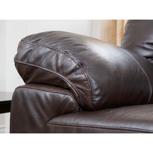 Abbyson Living Preston Premium Italian Leather Sofa, Loveseat and Armchair