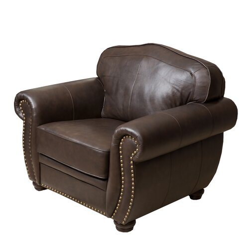 Abbyson Living Palazzo Italian Leather Chair Amp Reviews