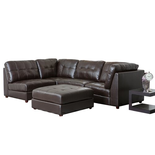 Sonora Top Grain Leather Modular Sectional