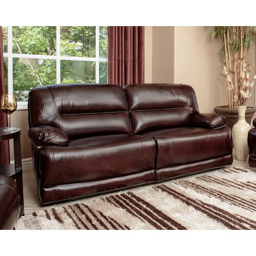 Brownstone Leather Power Reclining Sofa