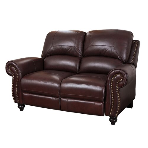 Abbyson Living Charlotte Leather Reclining Loveseat