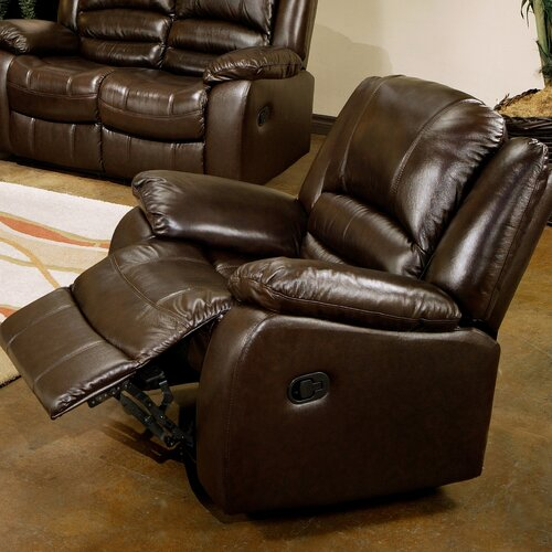 Abbyson living providence leather chaise recliner for Abbyson living sedona leather chaise recliner