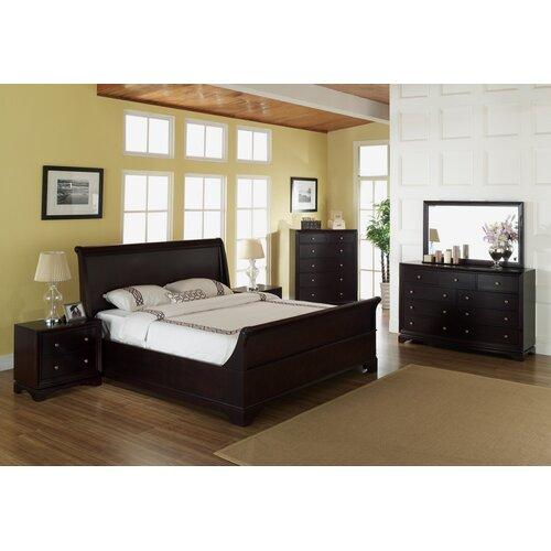 Abbyson Living Lancaster 6 Piece Sleigh Bedroom Collection