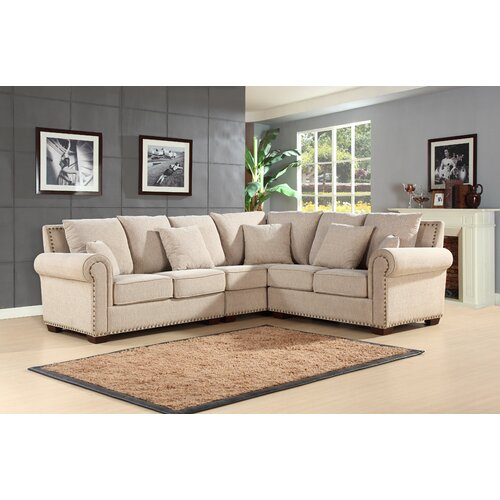 Abbyson Living Mona Right Hand Facing Sectional Reviews Wayfair