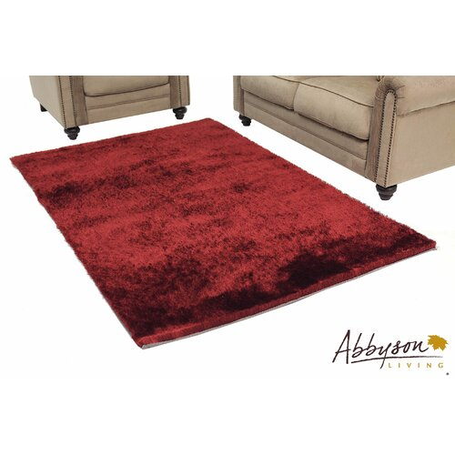 Abbyson Living Red Shag Indoor/Outdoor Rug
