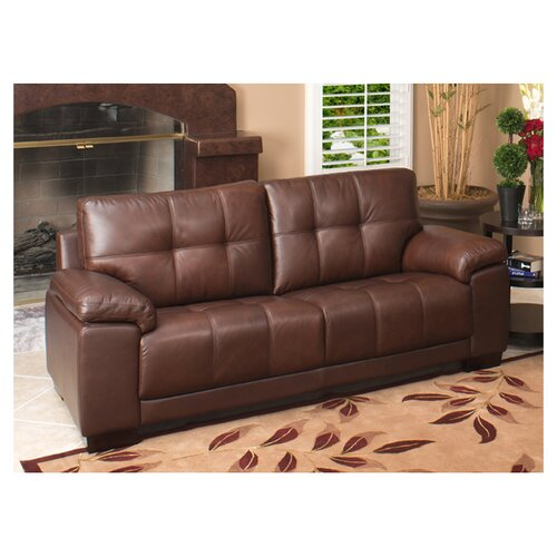 Abbyson Living Florence Leather Sofa Reviews Wayfair
