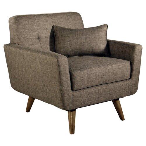 Paisley Tufted Fabric Armchair