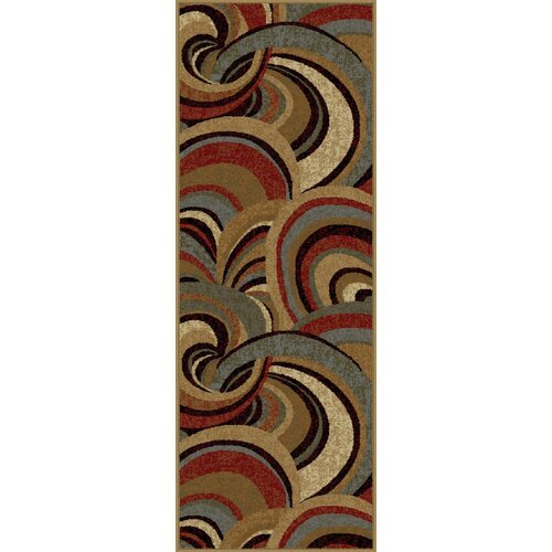 Impressions Brown Abstract Rug