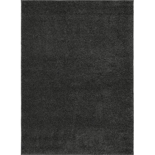 City Shag Solid Charcoal Area Rug