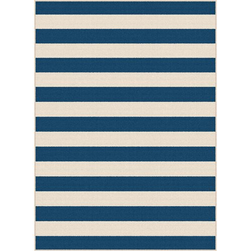 Garden City Stripe Navy Indoor/Outdoor Area Rug