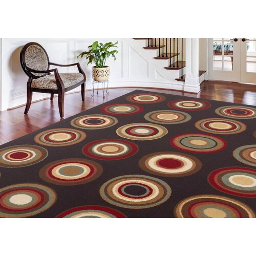 Tayse Rugs Laguna Charcoal Abstract Rug