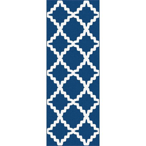 Metro Navy Marrakesh Trellis Rug