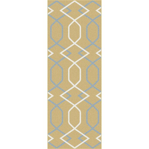 Metro Yellow Geometric Rug