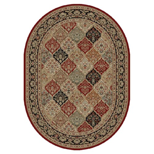 Sensation Red Geometric Rug