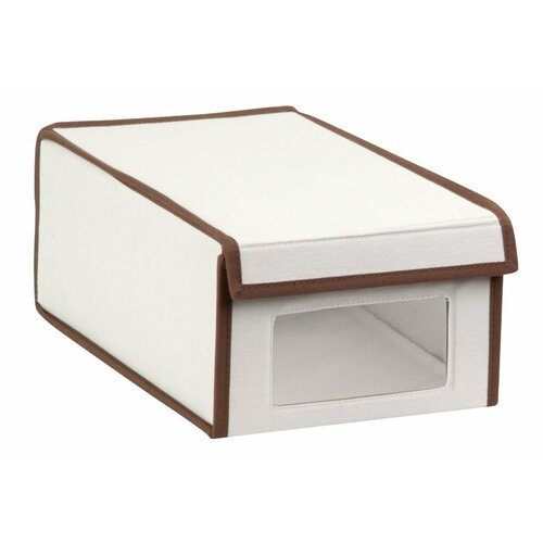 honey can do medium canvas window shoe box