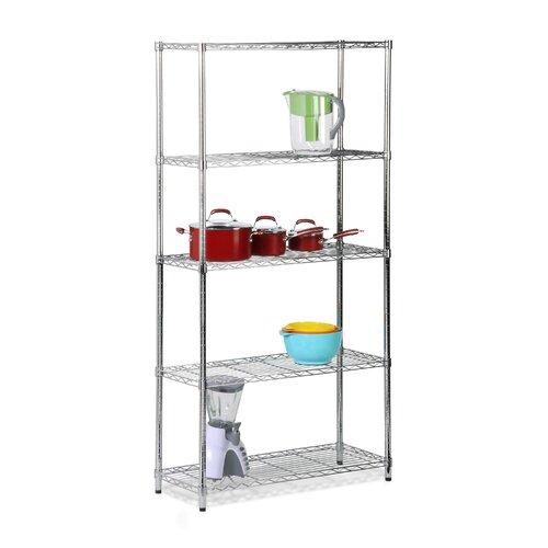 "Honey Can Do Urban 72"" H 5 Shelf Shelving Unit Starter"