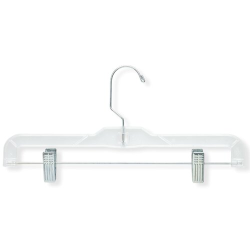 Honey Can Do Crystal Clear Skirt and Pant Hangers in Clear (12 Pack)