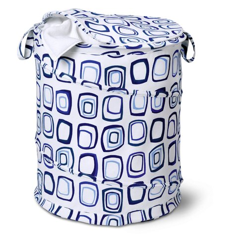 Honey Can Do Large Patterned Pop Open Hamper