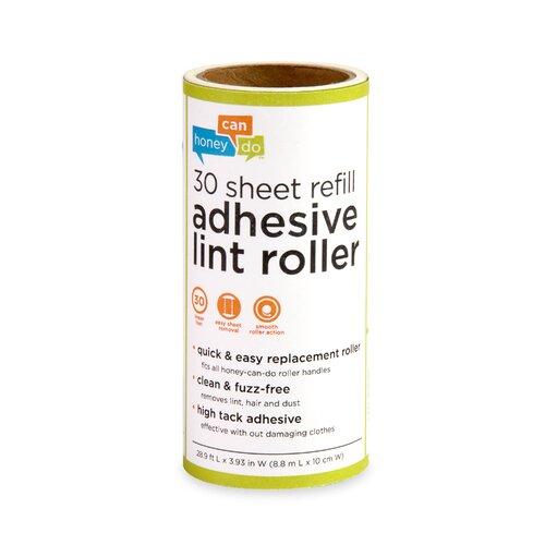 Honey Can Do 6 Pack 30 Sheet Lint Roller Refill