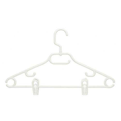 Honey Can Do Eighteen Pack Swivel Dress Hanger in White