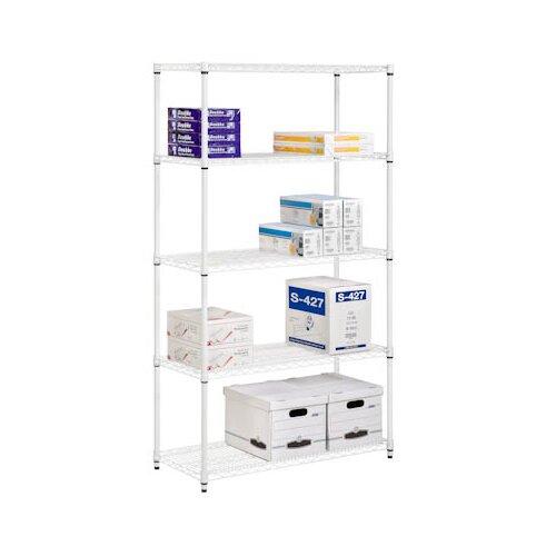 honey can do adjustable storage 72 h 5 shelf shelving. Black Bedroom Furniture Sets. Home Design Ideas