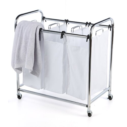 Honey Can Do 3 Section Chrome Plated Heavey Duty Laundry Sorter