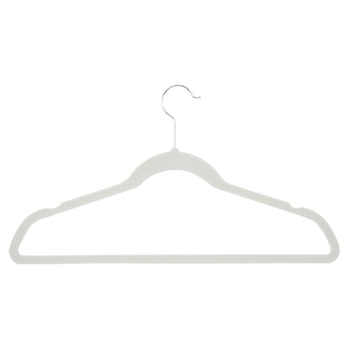 Honey Can Do Velvet Touch Suit Hanger in Ivory (50 Pack)