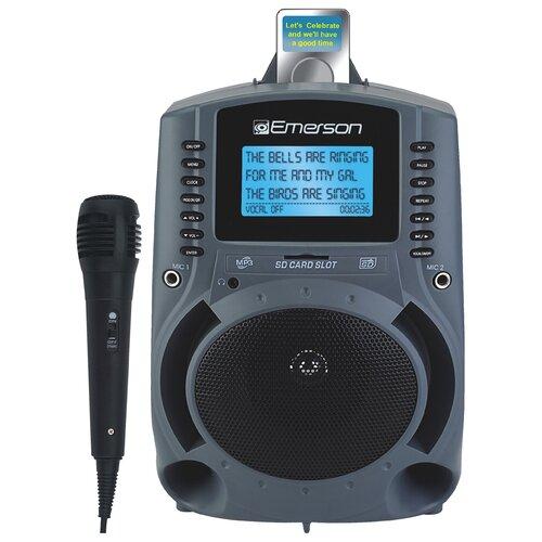 "Emerson Karaoke Portable Karaoke MP3 Lyric Player with 3"" Lyric Sreen, SD Slot and 150 Songs"
