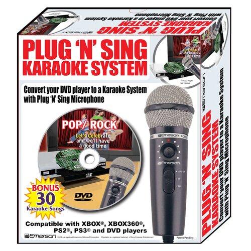 Emerson Karaoke Plug N Sing Karaoke Microphone