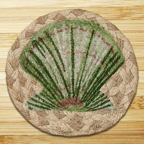 Scallop Printed Coaster