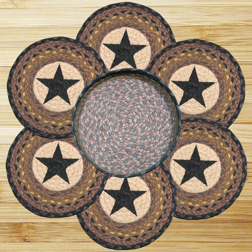 7 Piece Star Trivets in a Basket Set