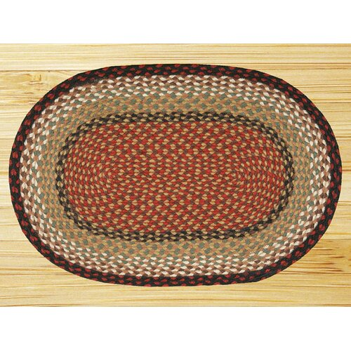 Earth Rugs Burgundy/Mustard Rug