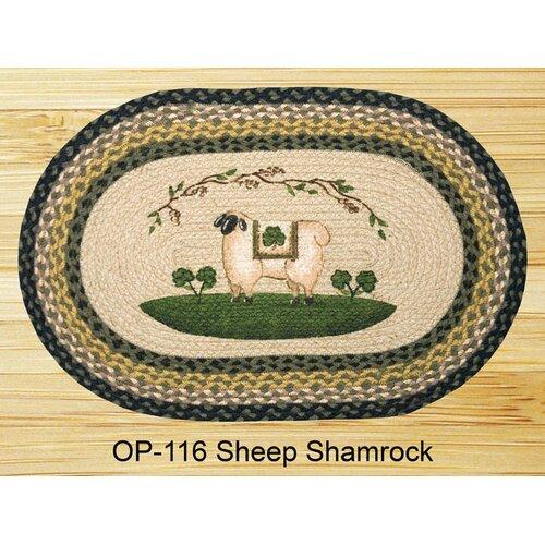 Sheep Shamrock Novelty Rug