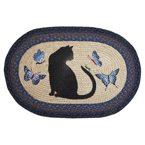 Cat and Grasshopper Novelty Rug