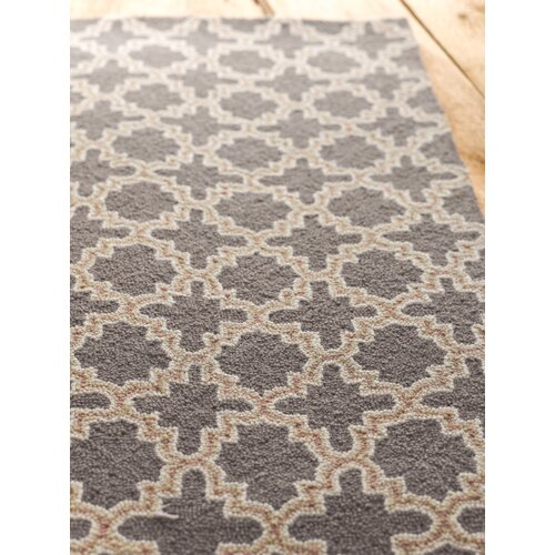Dash and albert rugs plain tin charcoal wool micro hooked for Dash and albert runners